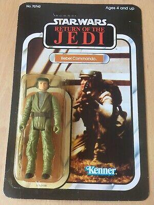 Vintage Star Wars Rebel Commando ROTJ  65 Back Moc.