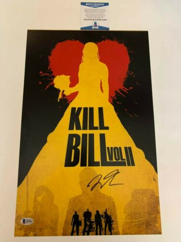 Quentin Tarantino Autographed Kill Bill Volume 2 11x17 Poster Signed Beckett COA