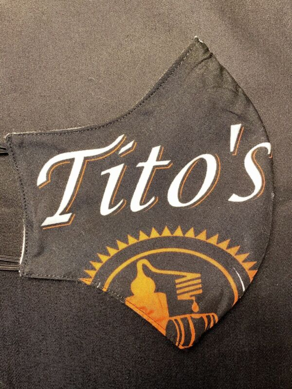 Black Tito's Vodka Handmade Fabric Mask