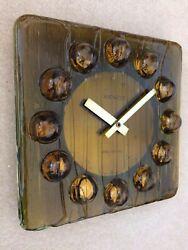 Mid Century Modern Space Age Acrylic Pop Art Wall Clock Kienzle Panton Bauhaus