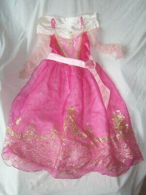 Disney Sleeping Beauty Costume (DISNEY STORE SLEEPING BEAUTY AURORA PINK GOLD HALLOWEEN COSTUME DRESS UP M 7)