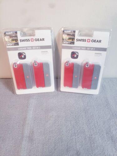 Swiss Gear Luggage 2x Tags Set Lot Of 4 NIP NEW - $2.99