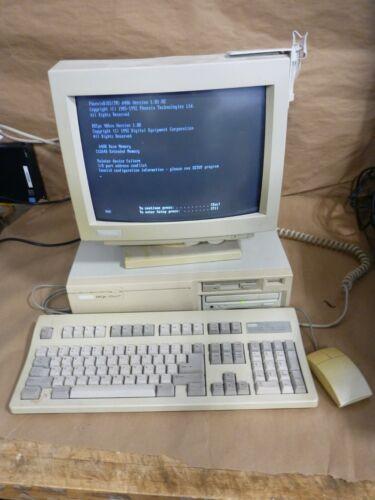 RaRe VINTAGE - DEC Digital 486sx LP DOS Desktop, Keyboard Monitor Mouse BOOTS !