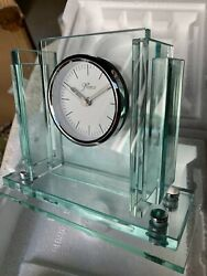 Jade Glass Desk Clock for any Occassion