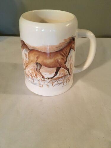 Vtg Enesco 1983 Horse Mug,  Intercontinental Greetings,