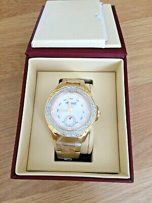 INGERSOLL GENTS GEM SET GOLD PLATED MARINE WATCH RRP £295 BOXED