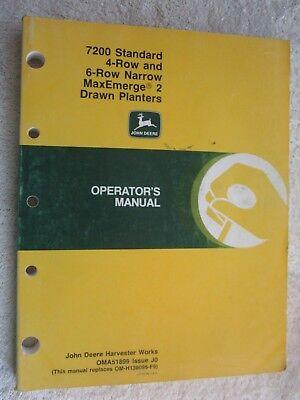John Deere 7200 Maxemerge 2 Standard 4 6-rn Planter Operators Manual Oma51899