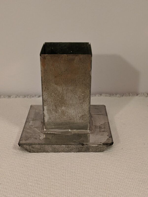 Metal Square Small Pillar Candle Mold