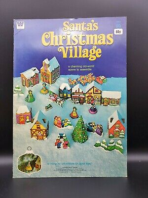 VTG 1975 Whitman Santa's Christmas Village Unused Paper Book ORANMENTS #1905