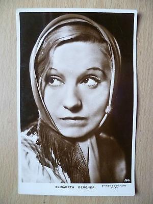 Film Star Real Photo Postcard- ELISABETH BERGNER, British & Dominions Films