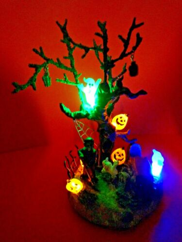 HALLOWEEN LIGHT-UP GHOST TREE AND FRANKENSTEIN~ BATTERIES INCLUDED