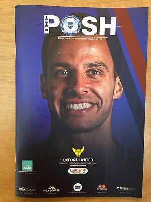 Peterborough United v Oxford United  2017-18 Season -League 1 Football Programme