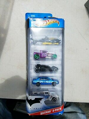 2010 Hot Wheels Batman Dark Knight 5 Pack Batcopter Batmobile Joker GPD Armored