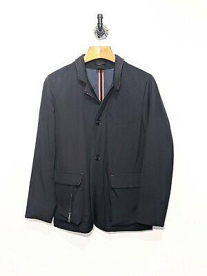 LORO PIANA Roadster Villa D'Este Cashmere Leather Trimmed Storm Coat Jacket S