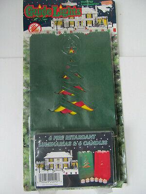 Vtg Christmas Tealight Candle Paper Bag Lantern Outdoor Decor Tree Luninaries C1