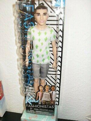 Barbie Puppe Ken *Fashionistas* mit Dutt und Kaktusshirt von Mattel FJF74 ()