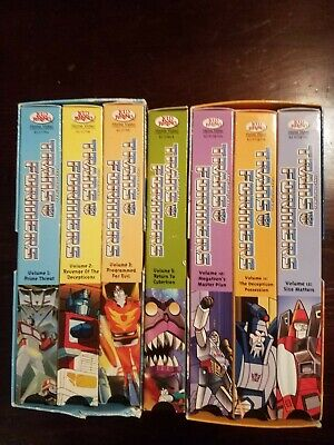 Lot Of 7 Transformers Vhs Movies_Kids Movie_
