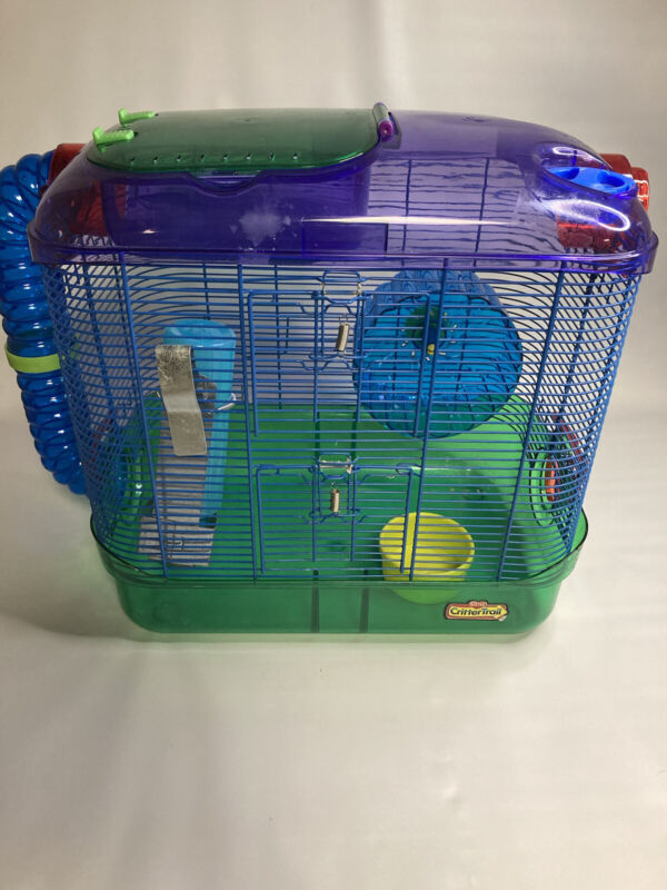 Hamster cage and accessories lot