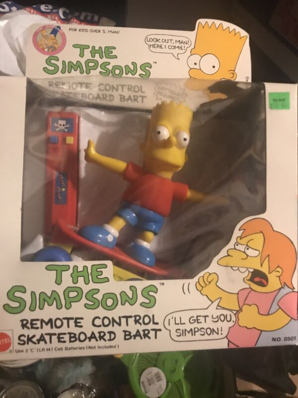 "The SIMPSONS ""REMOTE CONTROL SKATEBOARD BART by MATTEL 1990"