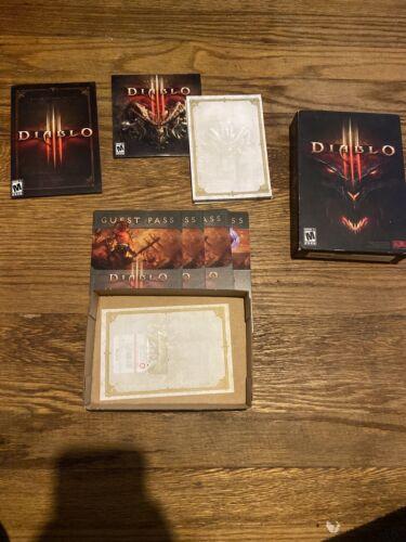 Computer Games - Diablo III 3 Game DVD Computer PC Windows Mac, 2012 Manual Authentication Key