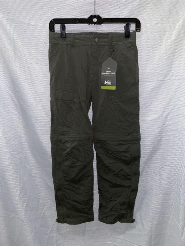 REI Sahara Convertible Pants - Dark Army Cot - Boys Medium (10-12)