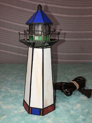 Leaded Glass Lighthouse Night Light