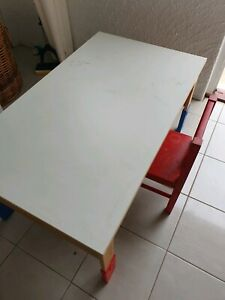 Ikea kids's table and a chair