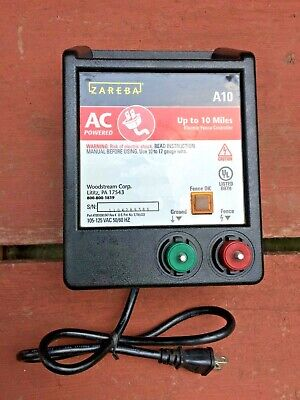 Zareba A10 Electric Fence Fencer Controller 105-125 Vac 5060 Hz 10-mile Usa