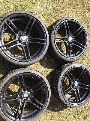 "19"" GENUINE BMW 313 M SPORT BLACK ALLOY WHEELS"