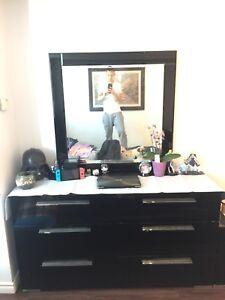 Modern dresser + mirror