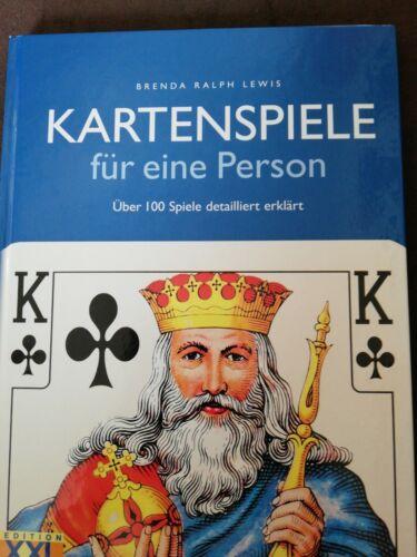 Kartenspiele Für eine Person, über 100 Spiele erklärt, Buch, wie neu