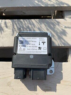 TESLA MODEL X Airbag ECU Control Unit 90D 1036767-00-A 0285012693 2017
