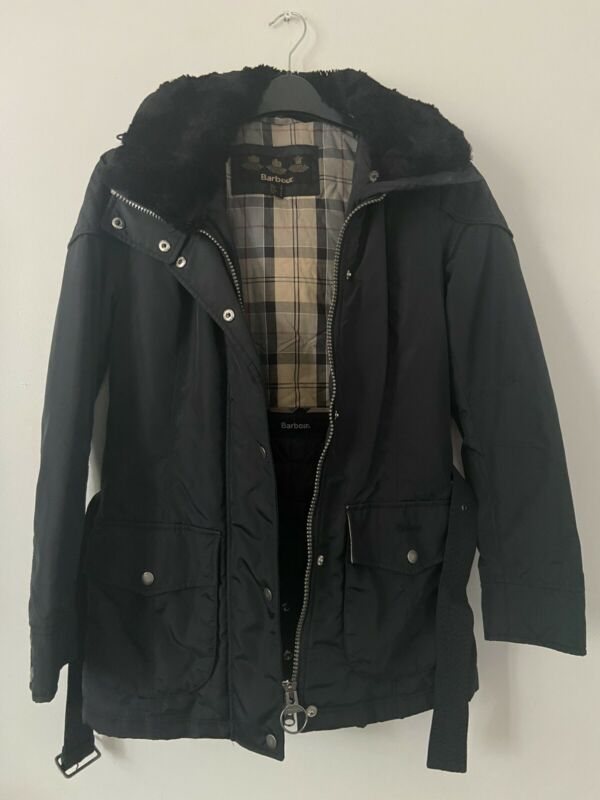 Barbour International Outlaw Jacket Navy Size 8