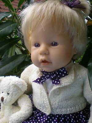 Zapf Colette Puppe 44 cm Baby Robin blond 2004 Spielpuppe Sammlerpuppe Doll