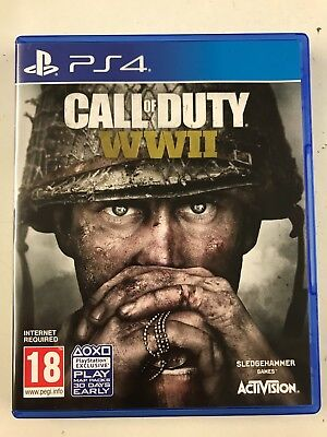 Call of Duty: World War 2  WWII (Sony PS4/Playstation 4) USED- Fast Free Postage