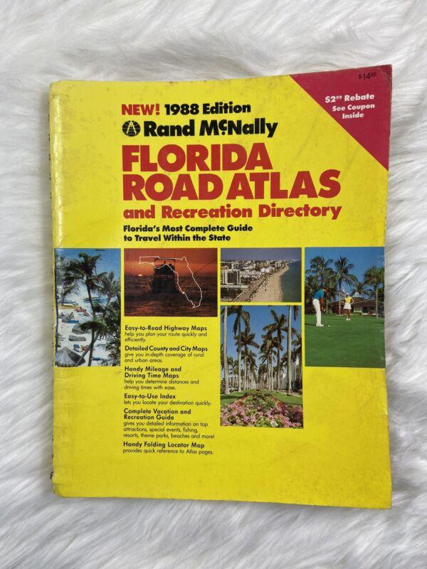 rand mcnally 1988 florida road atlas And Recreation Directory