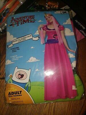 New Adventure Time Princess Bubblegum Complete Costume Medium 8-10