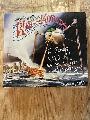 SIGNED Jeff Wayne's WAR OF THE WORLDS 2xCD SACD Remastered & Repackaged Digipack