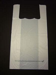 Large White 100% BioDegradable Carrier Bag 12