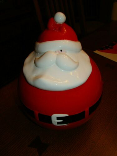 Santa Claus cookie jar treat Department 56 vintage holiday canister Christmas