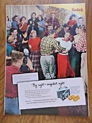 1951 Kodak Camera Ad  Country Western Dancing Theme Partners Swing