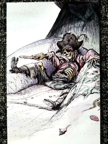 Pirates of the Caribbean Marc Davis Sketch Dead Men Tell No Tales Print 11x17