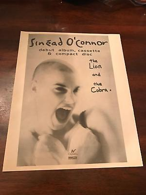 1988 VINTAGE 9.5X12 ALBUM PROMO PRINT Ad SINEAD O'CONNOR THE LION AND THE COBRA