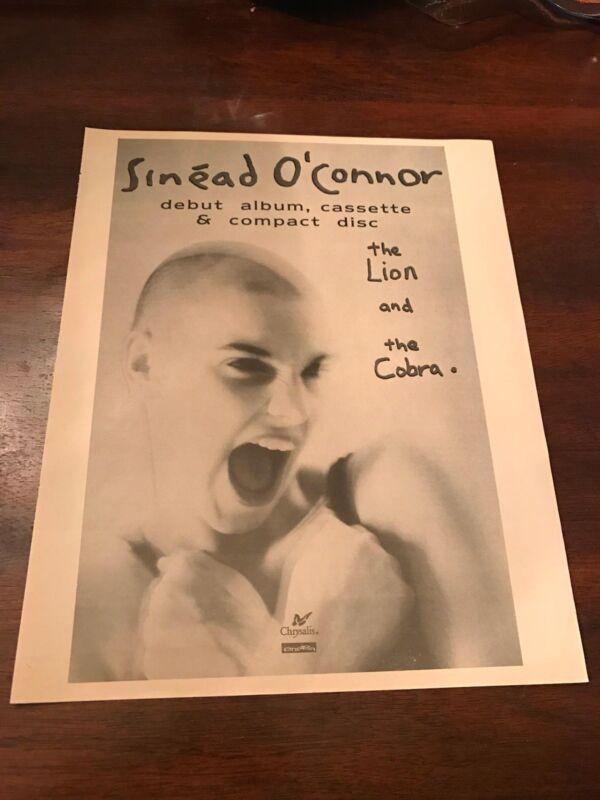 1988 VINTAGE 9.5X12 ALBUM PROMO PRINT Ad SINEAD O