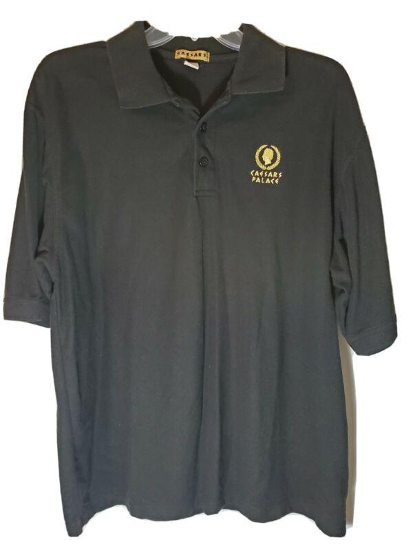 Caesars Palace Hotel and Casino Las Vegas Mens XL Black Polo Golf Shirt