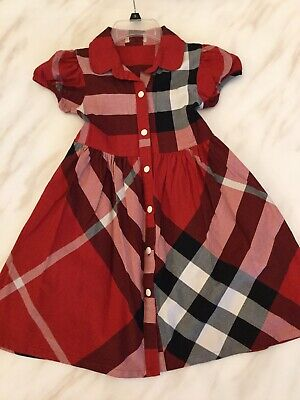 Authentic Burberry Girls Dress, Size 5, Pre-owned, Great Condition