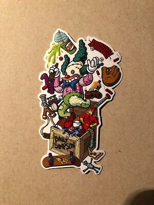 Bart Toybox Sticker,Skateboard (Santa Bart)