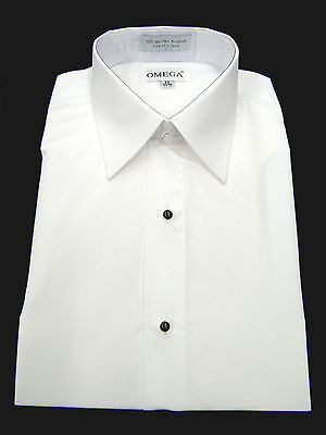 Collar White Shirt - NEW Microfiber Tuxedo Shirt