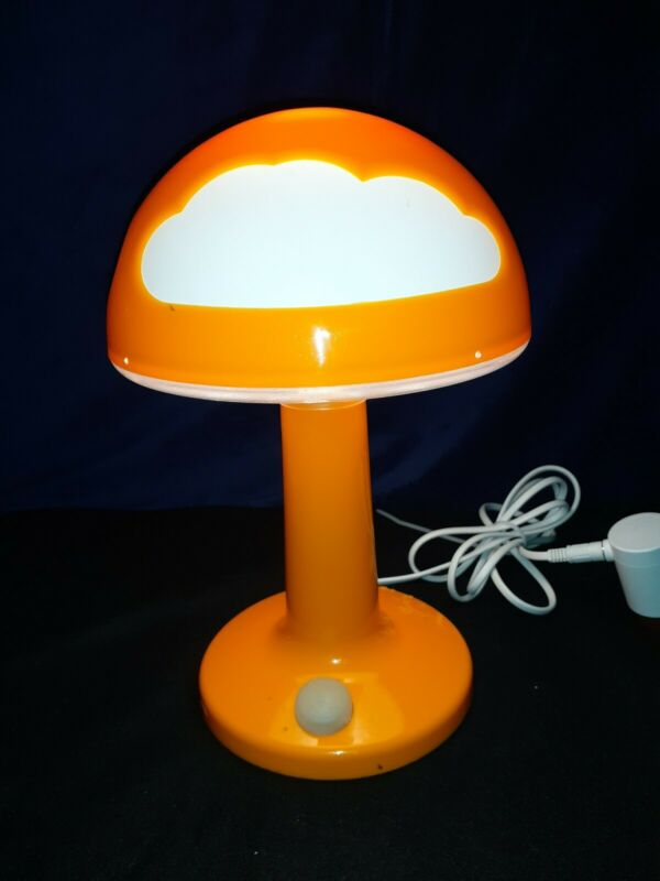 IKEA Skojig Orange and White Clouds Table Desk Mushroom Lamp With Plug