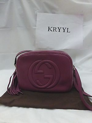 NWT Gucci Soho Leather Disco Crossbody Shoulder Bag, Rose Peonia